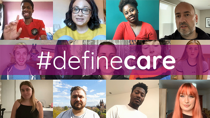 A grid of images of #definecare participants